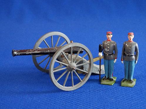 BR-004 - Confederate Artillery Set - ACW - Britains - 54mm Metal - No Box