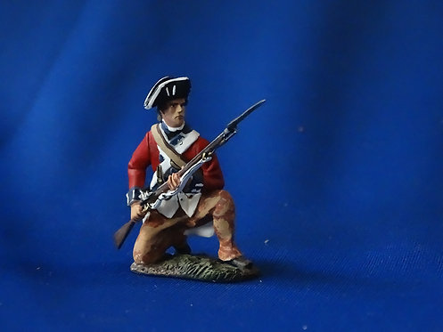 CORD-RA0109 - British Trooper Kneeling at the Ready - AWI - Britians - 54mm Meta