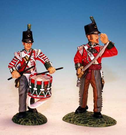 DLI.7. - Officer and Bugler, 68th Durham Light Infantry
