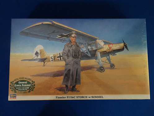 COJG-240 - Fieseler Fi156C Storch with Rommel  #08165 - WWII  - Hasegawa 1/32