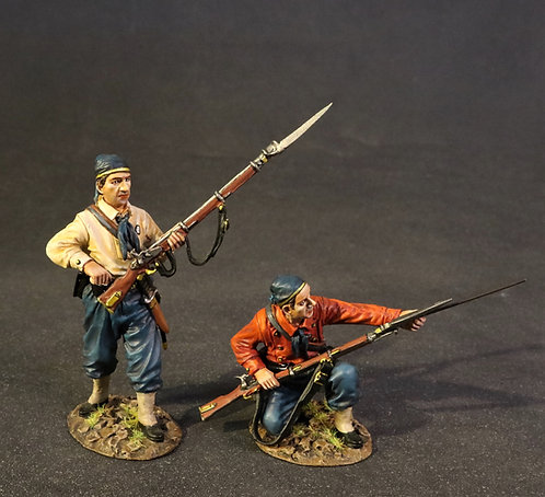 11NY-12 - 2 Infantry Firing and Loading, 11th Regiment NY Volunteer Infa