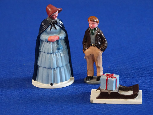 NR-119 - Mother, Lad , and Sled - (3 Figures) - From Trophy Set XM6 - 54mm Met