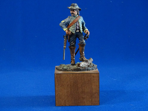 NR-012 - Union Cavalry Sergeant - Metal on Wooden Base - ACW