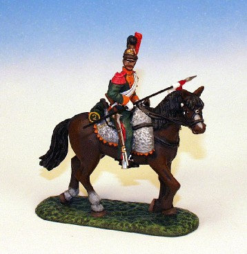 FLL.3. - Trooper Scouting Holding Lance, Walking Horse, Lancers of the Line