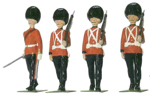 43117C- 1907 Half-Booted Coldstream Guards Marching Set - 4 Piece set