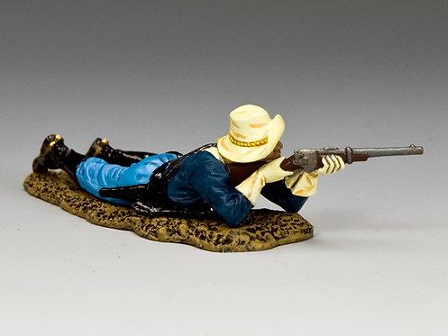 TRW125 - Buffalo Soldier Lying Prone Firing