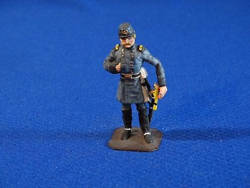 CORD-C092 - Confederate McLellan - ACW - Unknown Manufacturer - 54mm Metal - No