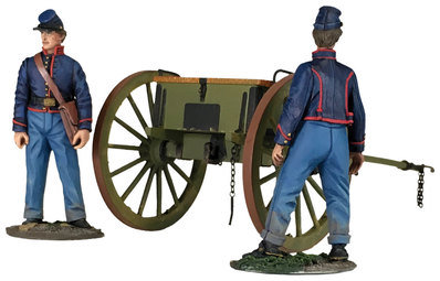 31291 - Federal Light Artillery Limber With Two Man Crew