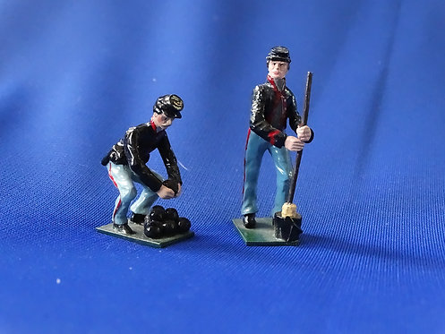 CORD-3099 - Union Artillerymen (2 Figures)- ACW - Fusilier - 54mm Metal - No Box