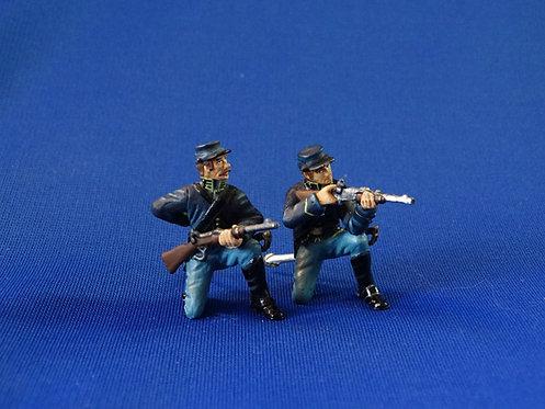 CORD-1163 - Union Dismounted Cavalry Kneeling - 2 Figures - ACW - Frontline