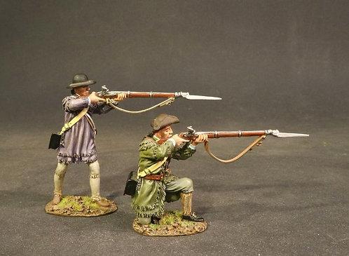 DAM-12C - Battle of Oriskany, August 6th 1777, 2 Militia Firing