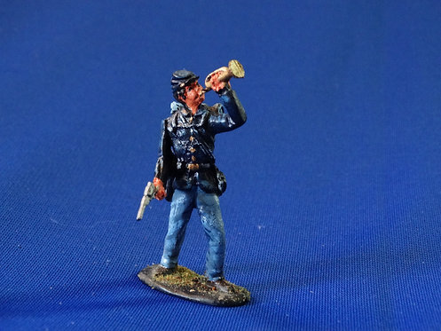 CORD-0472-Union Infantry Bugler - Unknown Manufacturer - ACW - 54mm Metal