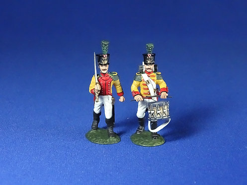 WLG.4 - Westphalia, 1st Regt Grenadiers (Officer and Drummer)