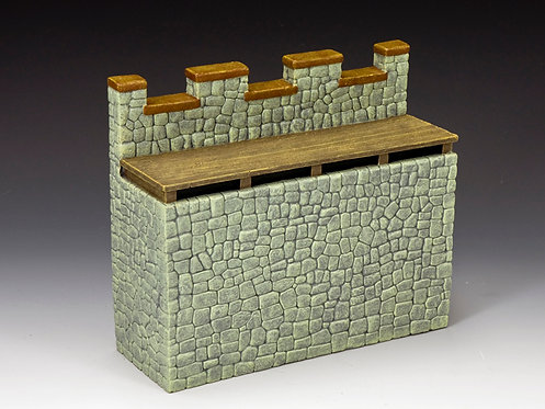 RF003(G) - Roman Fort Straight Wall Section (Greystone)