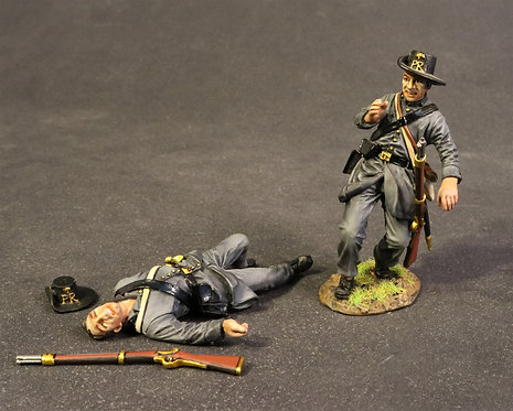 CSPR-04 - South Carolina Infantry Co B, Palmetto Rifleman, 2 Wounded Infantry
