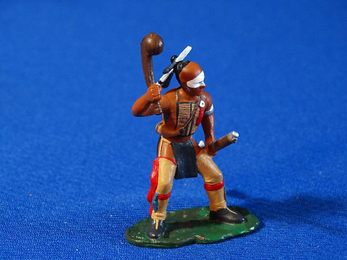 LM-307H - Huron Indian Leaning Back with Club and Musket - FIW - LeMans