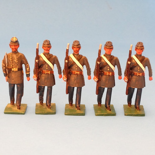 #165  Confederate Marines Officer and Rifles - ACW - Martin Ritchie - 5 Figures