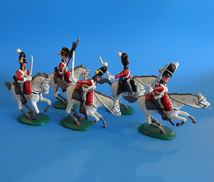 MI-641 - 9th Regiment Cuirassiers - Five Mounted Troopers Charging - Mulberry