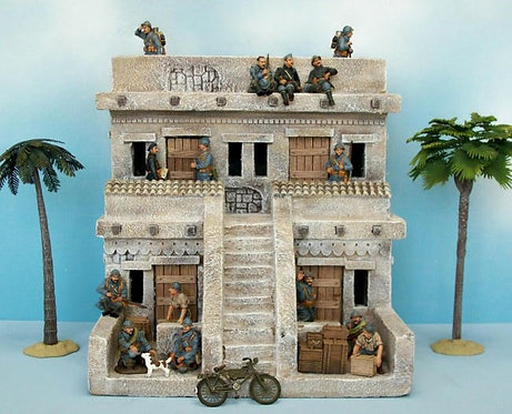COMM-004 - Middle Eastern Building #4 - 60mm Scale - FIGURES NOT INCLUDED