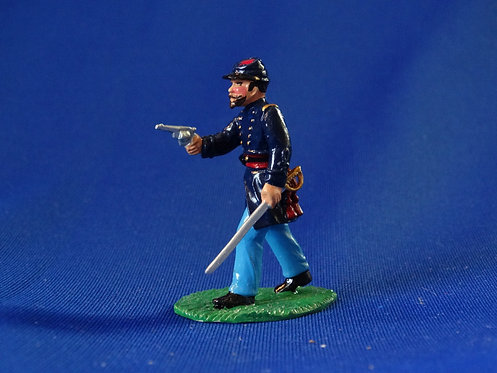 CORD-T108-Union Officer Advancing - ACW - Trophy - 54mm Metal - Glossy -No Box