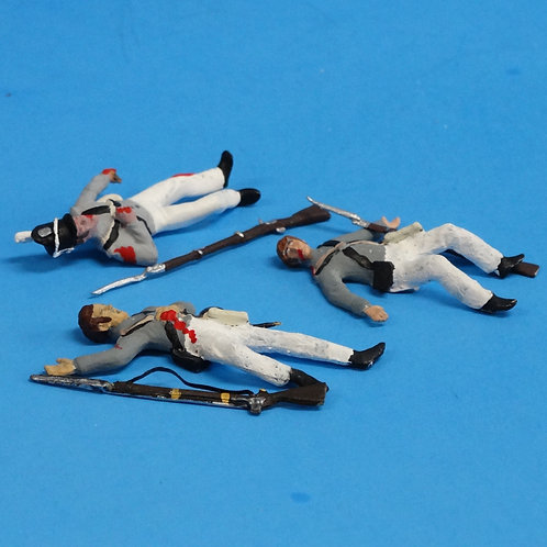 CORD-A0194 - US Infantry Wounded (3 Figures) - War of 1812 - 54mm