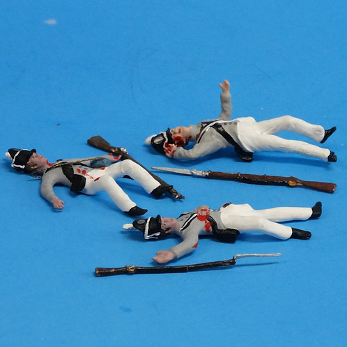 CORD-A0193 - US Infantry Wounded (3 Figures) - War of 1812 - 54mm