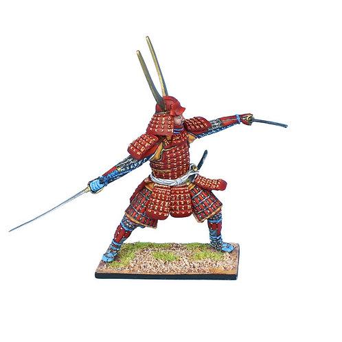 SAM040 - Samurai Warrior Fighting with Dual Katanas