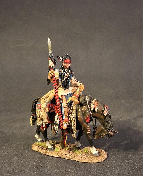 WSP-03 - Crow Warrior Sitting on Horse