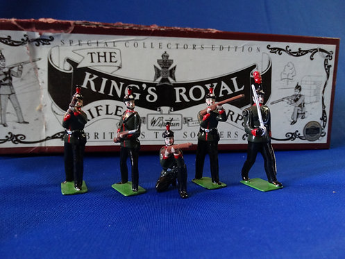 MI-732 - King's Royal RIfle Corps (5 Figures) - Britains - 54mm (Old Small Scale