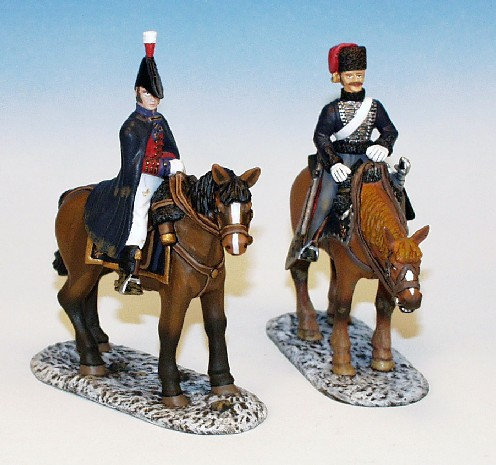 95RB.7. - Retreat from Corunna, Set 1 - 2 Mounted Figures, 95th Rifle Brigade