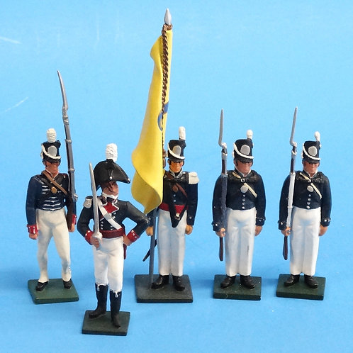 CORD-A0186 - US Army  - 5 Figures - War of 1812 - True 54mm Metal