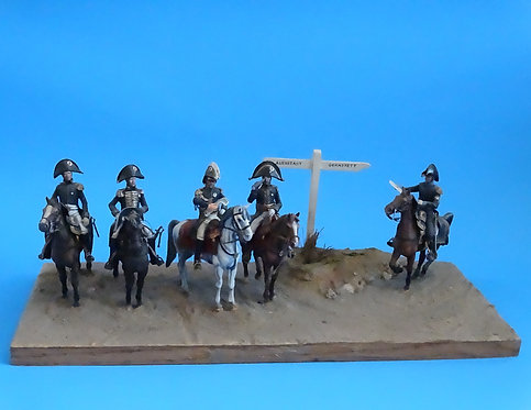 MI-455 -French General Bertier and Staff at Auerstadt Diorama (Expertly Painted)