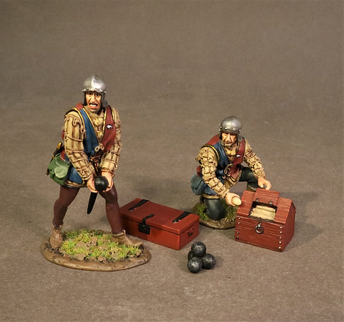 RYORKART-02 - 2 Artillery Crew Loading, The Battle of Bosworth Field 1485