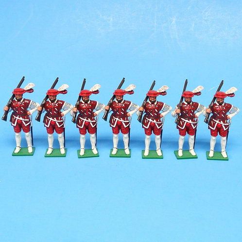 MI-592 - Renaissance Musketeers (7 figures) - Unknown Manufacturer - 54mm Metal