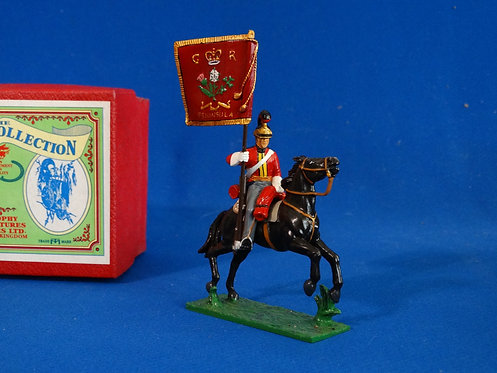 TY005 - British Life Guard Flag Bearer - Napoleonic - Trophy - 54mm Metal