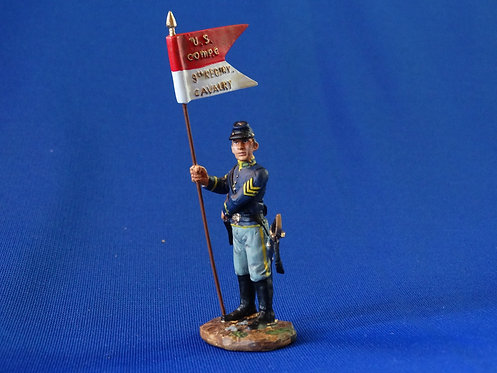 CORD-1144 - Union Dismounted Cavalry Sergeant Guidon Bearer  - ACW - Britains