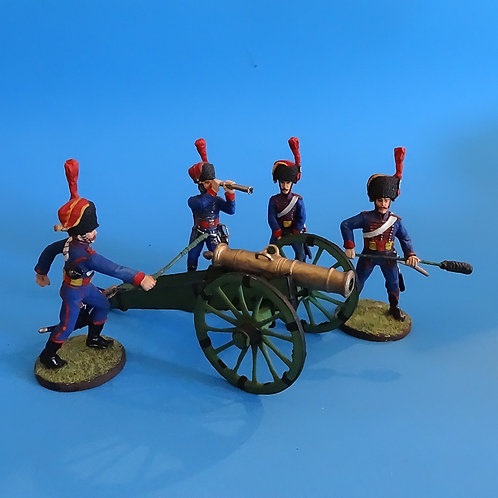 MI-622- French Artillery Cannon and Crew - Grenadiers - Russian Made - 54mm