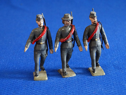 MN043 - Confederate Infantry 3 Walking - Minot - 54mm Metal - No Box