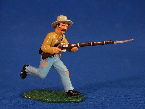TY013 - Confederate Advancing - ACW - Trophy - 54mm Metal - No Box