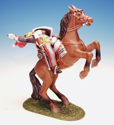 10H.9. - Trooper Falling From Rearing Horse, 10th Hussars