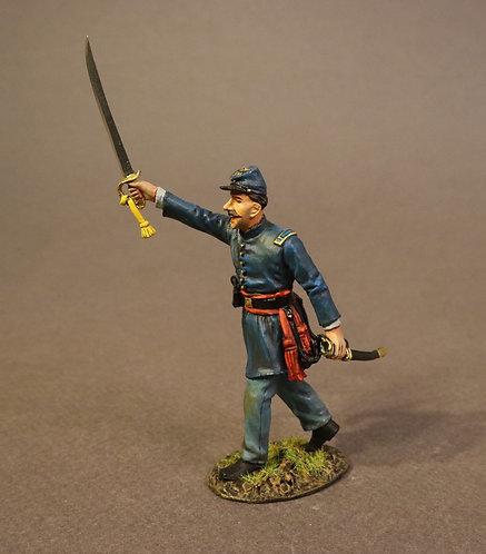 54MASS-02 - Infantry Captain Advancing, 54th Massachusetts Regiment