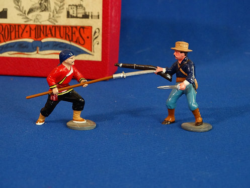 TY001 - Hand-to-Hand with US Trooper and Boxer - Boxer Rebellion - Trophy - 54mm