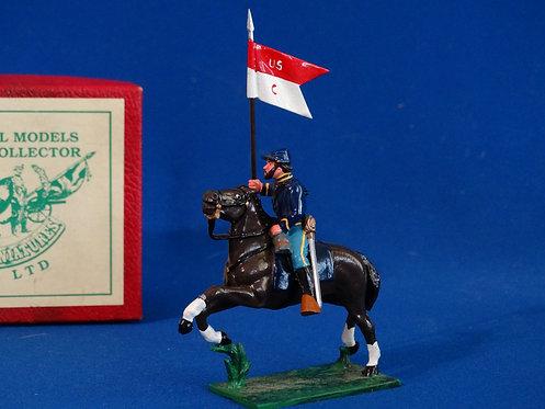 TY003 - Mounted Union Guidon Bearer - ACW - Trophy - 54mm Metal
