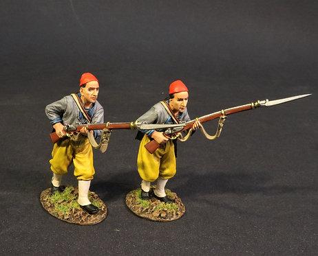 CSHZ-08 - 2 Infantry Advancing, The South Carolina Zouave Volunteers