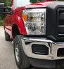 Red truck bumper