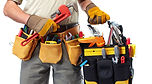 Contractor with toolbelt