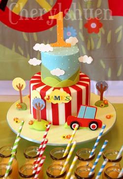 Car Theme Birthday Cake