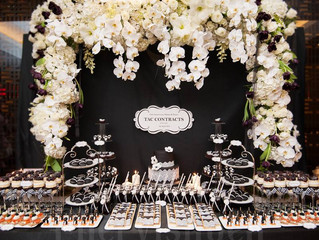 Signature Dessert Table - Black and White