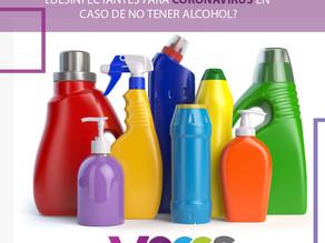 Desinfectantes para Coronavirus en caso de no tener alcohol