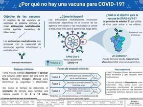 ¿Por qué no hay una vacuna para parar el Covid19 aún?